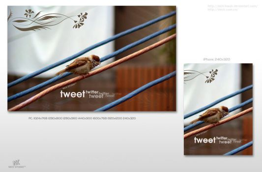 Tweet and Twitter Wallpaper by nick-kwok