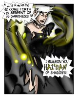 Meryl Summons a shadow snake by HGuyver