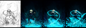Dark zero suit samus steps by pikminAAA