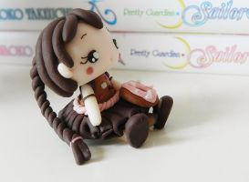 Chocolate doll (fimo) by NekoIsy