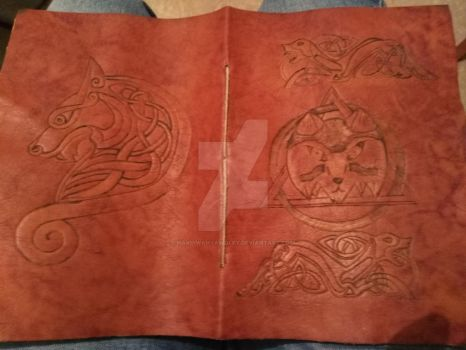 celtic wolf carnet by HakuiWahyaWolfy