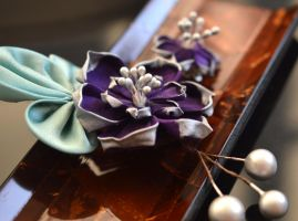 The Best Man: boutonniere lotus pin. by hanatsukuri