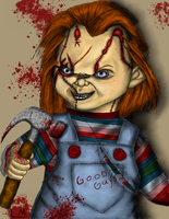 Chucky's bloody blows by Laquyn