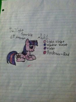 Twilight Sparkle 1st Attempt by Gabe9988