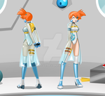 commission - Misty front back by Rosvo