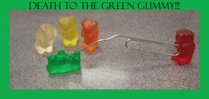 death to the green gummy by krittermaker