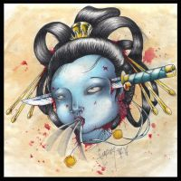 Dying Geisha by BettieBoner