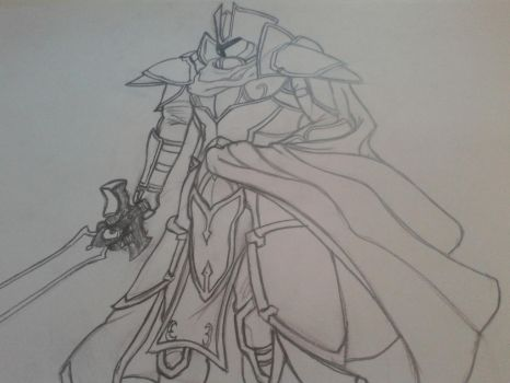 The Black Knight (Fire Emblem Sketch) by CheskuDemarbre