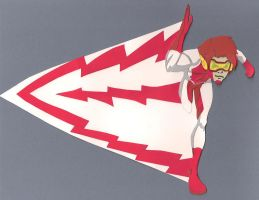 Impulse - Young Justice paper cutout by say-andy
