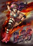 Roller Derby girl by FranciscoETCHART