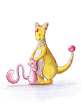 Mew and Ampharos by Mewscaper
