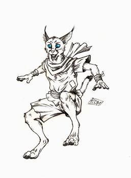''Daily'' sketch - Flying Caracal by 0laffson