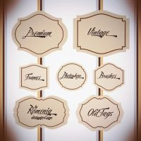 Lovely Vintage Labels Frames by Romenig