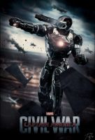 Captain America Civil War Poster :War Machine ver3 by NO-LooK-PaSS