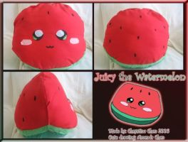 Juicy the Watermelon Plushie by powerfulgoddess