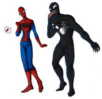 Venom-gay and Spidey-gay by arbrenoir