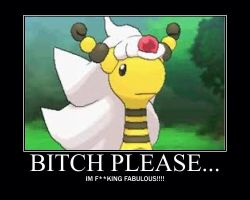 Mega ampharos is just FABULOUS XD by alucardserasfangirl