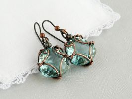 Hoarfrost  earrings by UrsulaJewelry