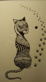 ink cat by AinoJulia