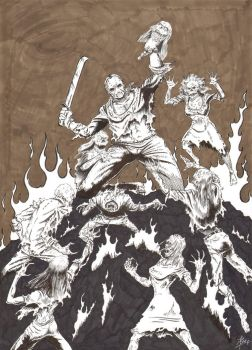 Jason vs the Zombies from Hell by ben1804