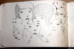 moleskine - faces by BrokenMasque