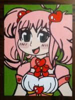 Cream the Magical Girl painting (monochrome645) by TheScarecrowOfNorway