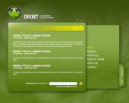 Crickets WebSite by lowedesign