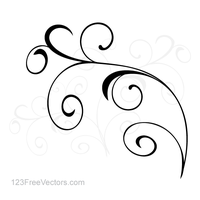 Vector Simple Floral Ornament Background by 123freevectors