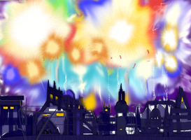 Joyful fireworks by GeorgieGanarf