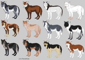 Canine/Wolf Point adopts (OPEN) by Themystichusky