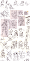 Brawl Sketch Dump 5 by Shydrake