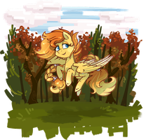 [Commission] A nice Flight in Autumn [gif] by Keep-Yourself-Alive
