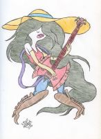 Marceline rocking her axe bass by Jose-Miranda
