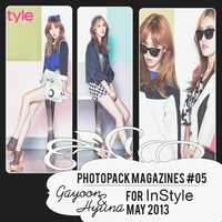 Photopack MZ#05 Gayoon/Hyuna for InStyle [May2013] by Solita-San