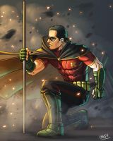 Tim Drake in Arkham City by Cris-Art