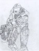 Master Chief Drawing by Nycr0