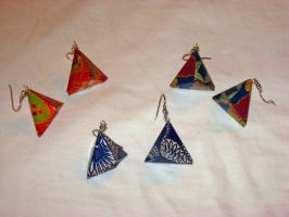 Triangle earrings 1 by Selenere