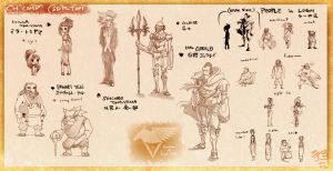 5D Pilot Featured Characters by minomiyabi