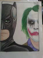 The Batman and The Joker by CAP7AIN-TEZZ-VII