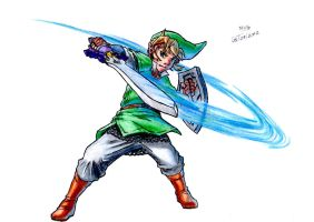 Link (The legend of Zelda: Skyward Sword) by elmago6000