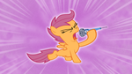 Scootaloo Singin'-background 2 by MoongazePonies