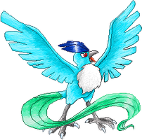 Articuno coloured by Sulfura