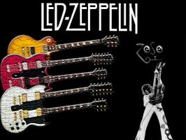 Led Zeppelin and Les Paul2 by xfreekyx