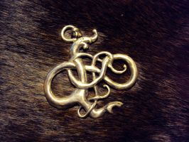 Urnes Dragon Pendant by Aranglinn