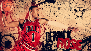Derrick Rose Wallpaper by lucasitodesign