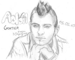 Adam Gontier by BeCrew