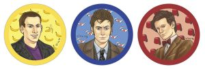 Doctor Who buttons by kiko-burza