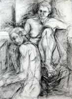 Double Figure Drawing by KateStehr