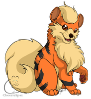 Commission- Growlithe by CheezieSpaz