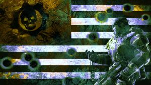 infected flag by Bartistictouch